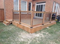 Brown Pressure Treated Fencing and Decks